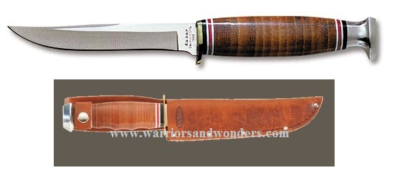 Ka-Bar 1226 Little Finn w/Tan Leather Sheath