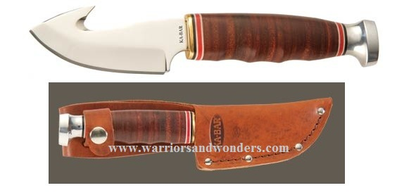 Ka-Bar 1234 Game Hook w/Tan Leather Sheath