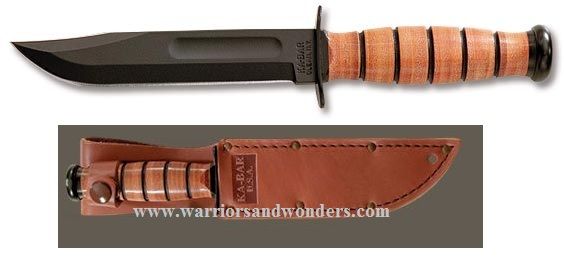 Ka-Bar 1251 Short w/ USA Leather Sheath (Online Only)