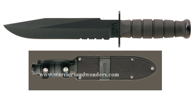 Ka-Bar 1271 Fighter Knife with Leather/Cordura Sheath