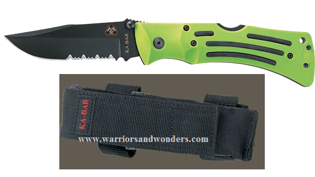 Ka-Bar 3059 Zombie Mulle Folder W/ Serration