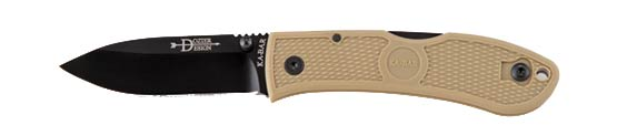 Ka-Bar 4062CB Dozier Folding Hunter, Coyote (Online Only)