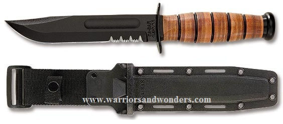 Ka-Bar 5019 Full Size Army w/ Serration - Black Hard Sheath
