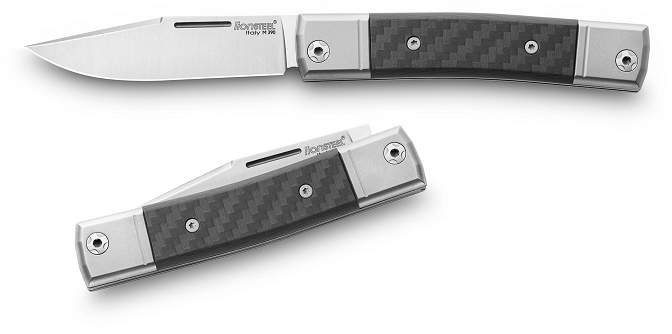 Lion Steel BM1CF BestMAN Slipjoint Single Clip- Carbon Fiber
