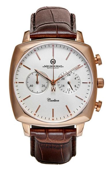 Melbourne Carlton Chronograph Rose Gold - Silver