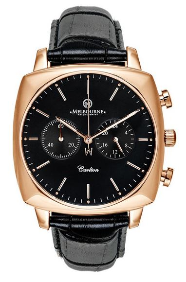 Melbourne Carlton Chronograph Rose Gold - Black