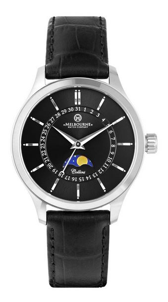Melbourne Collins 38 Moonphase - Black