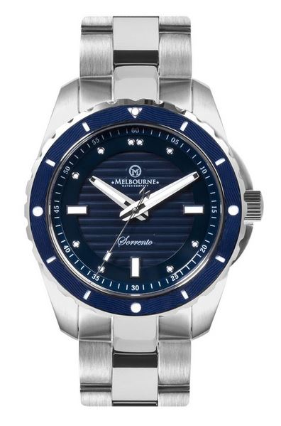 Melbourne Sorrento Dive Watch Steel Bracelet - Blue