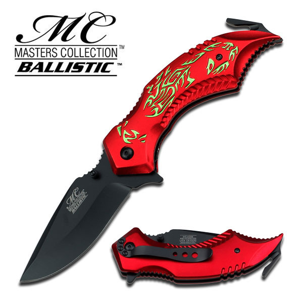 MC A009RDG Scorpion Green/ Red Assisted Opening (Online Only)