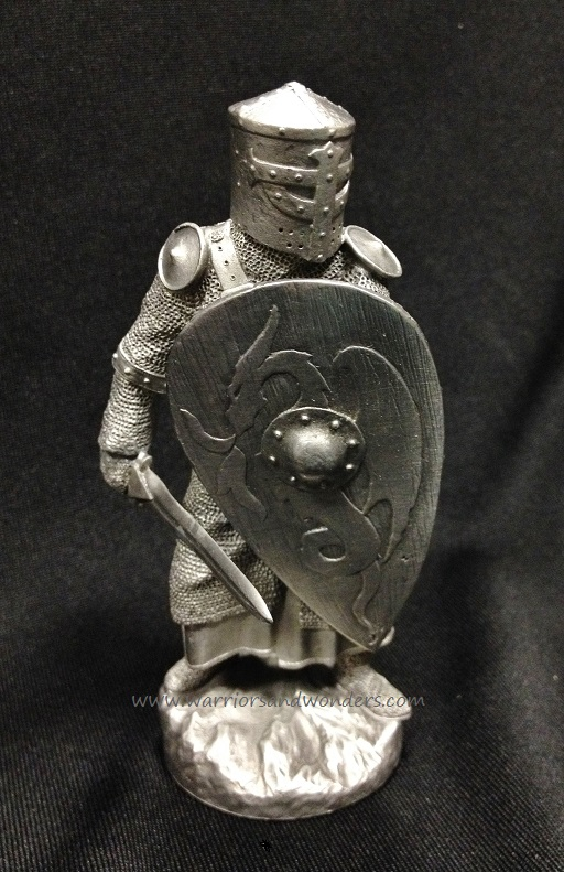 Les Etains du Graal Chess Pewter Figurine - King's Guard