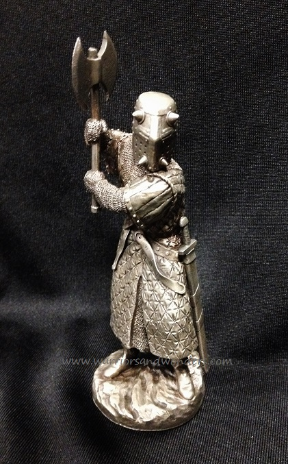 Les Etains du Graal Pewter Knight Figurine - Evil Axed Guard