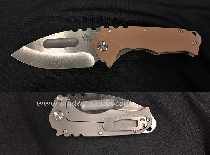 Medford Praetorian G Drop Point Tumble Finish - Coyote G10