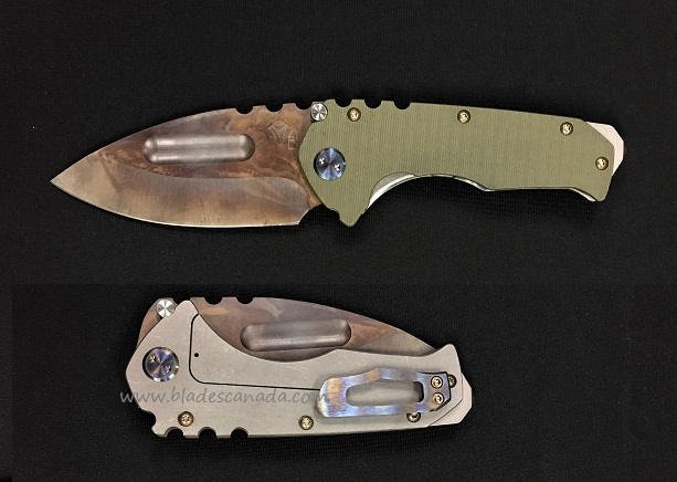 Medford Praetorian G Drop Point Vulcan - Green G10 (Online Only)