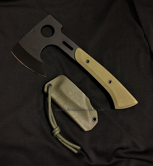Medford Bearded Hatchet Green G-10 Handle - Black PVD