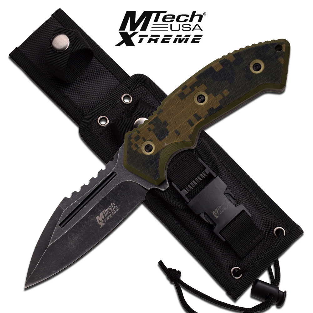 MTech Xtreme MX8133DG Camo Fixed Blade w/Nylon Sheath (Online)