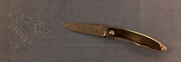 Chris Reeve Mnandi Raindrop Damascus - Ebony Scales