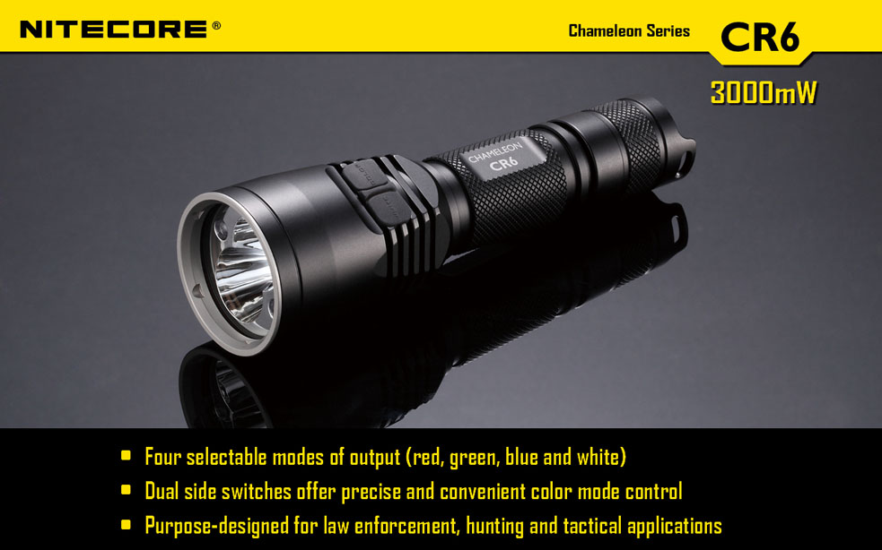 Nitecore CR6 Chameleon Red LED 440 Lumens