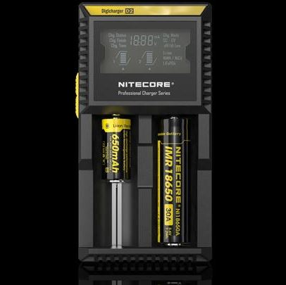 Nitecore D2 Digicharger 2 Bay Smart Charger
