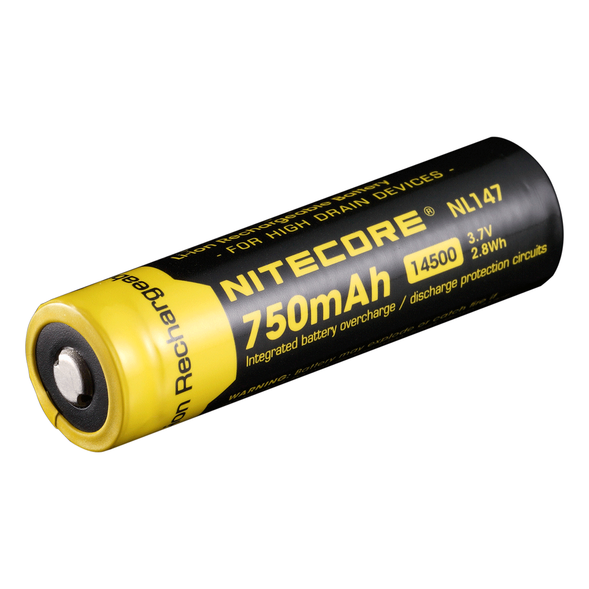 Nitecore 14500 Recharegeable Battery - 750mAh