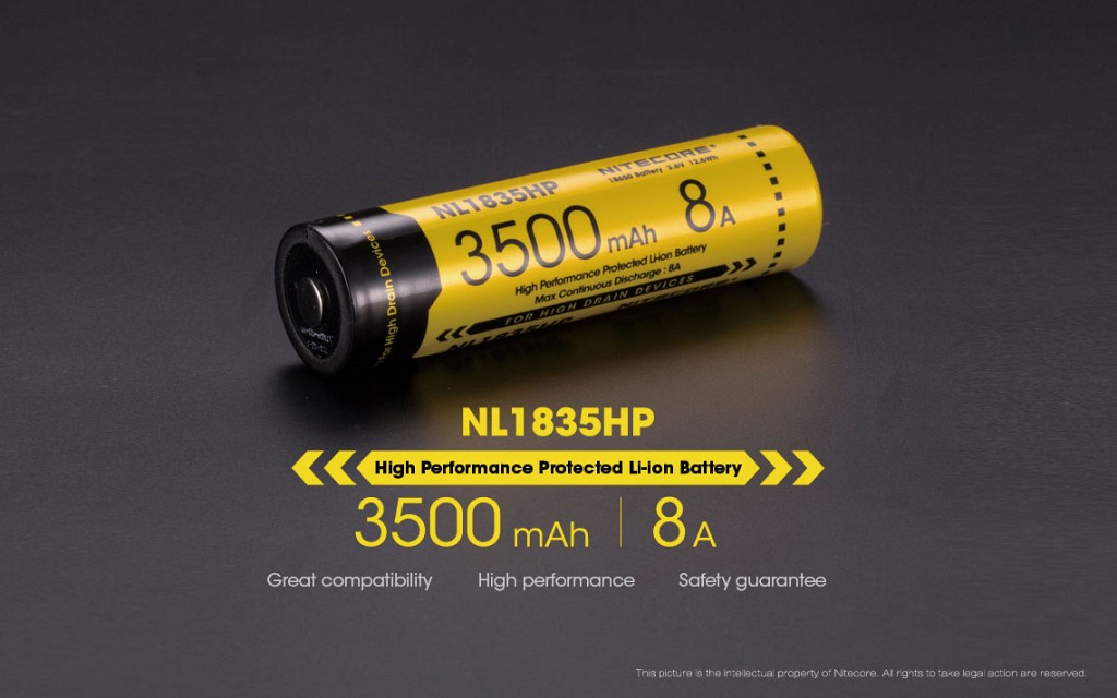 Nitecore 18650 Rechargeable Battery 8A HP - 3500mAh