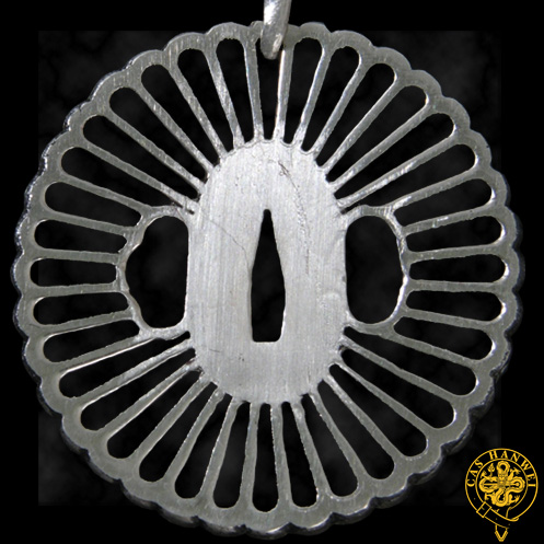 Hanwei PPK Wheel Tsuba Pendant by Paul Chen (Online Only)