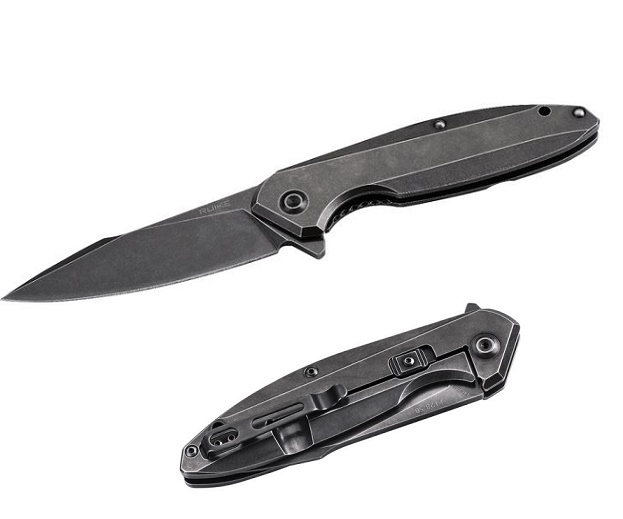 Ruike P128SB Framelock Folder With Secondary Lock - Black