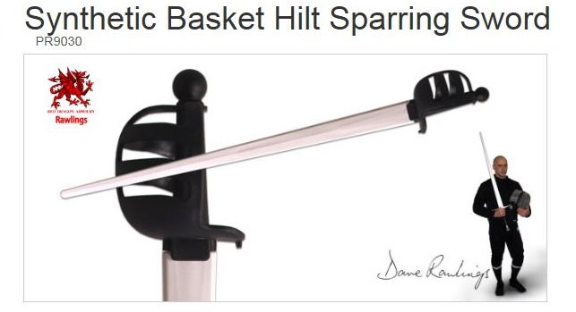 Rawlings Synthetic Basket Hilt Sparring Sword PR9030 (Online)