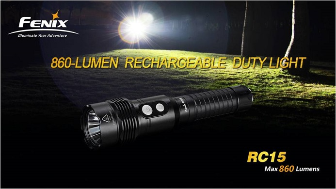 Fenix RC15 Rechargeable Light (860 Lumens)
