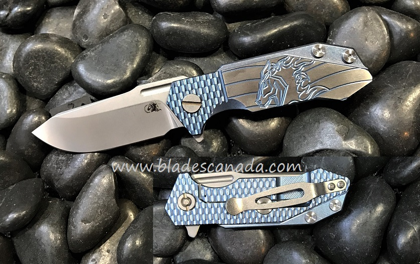 Hinderer Half Track Ti Horse SW - Blue Ano (Online Only)
