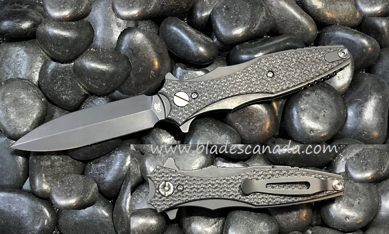 Hinderer Maximus Dagger Double Edge BB Textured CF (Online Only)