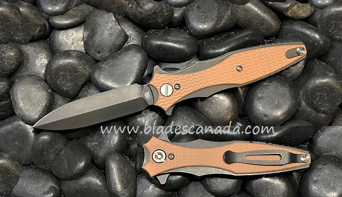 Hinderer Maximus Dagger Double Edge BB -Coyote G10 (Online Only)