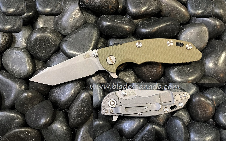 Hinderer XM-18 3.0 Harpoon Tanto WF - OD Green G10 (Online Only)