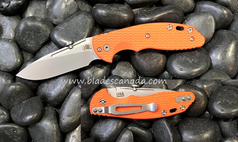 Hinderer XM Slippy 3.0 Slicer SW - Orange G10 (Online Only)