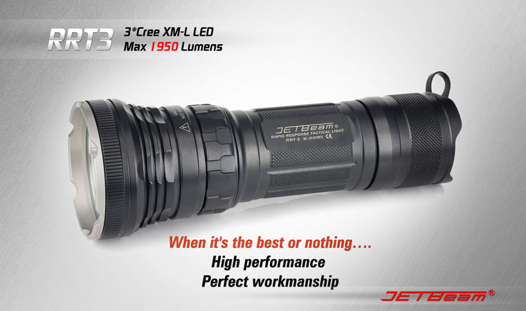 JETBeam RRT3 Flashlight 1950 Lumens