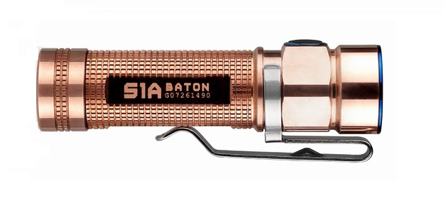 Olight S1A CU Limited Edition Raw Copper Body - 600 Lumens