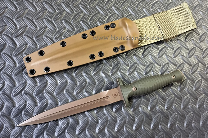 Spartan Blades George V-14 FDE - Tan Kydex - Green G10