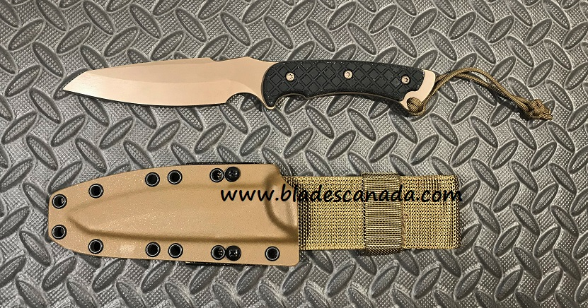 Spartan Blades Hybris FDE - Tan Kydex Sheath - Black Micarta