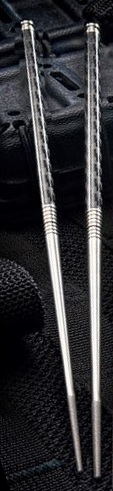 Spartan Chop Stick Set Titanium and Carbon Fiber
