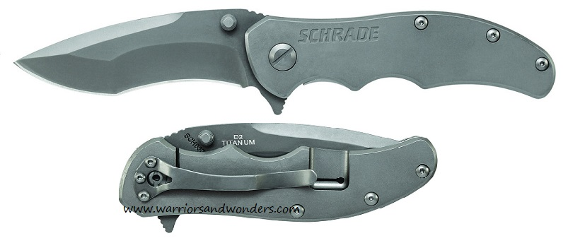 Schrade 600Ti Titanium Framelock D2 Re-Curve Folder