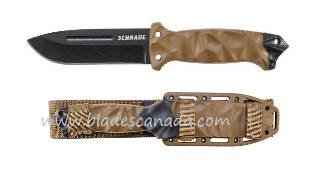 Schrade F40D Fixed Blade Desert w/ MOLLE Sheath (Online Only)