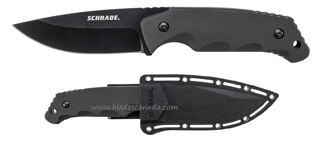 Schrade F49 Fixed Blade TPE Handle w/ Nylon Sheath