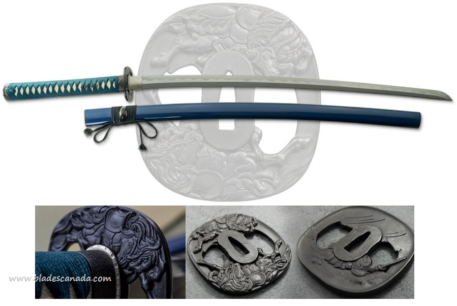Dragon King SD35350 War Horse Katana T10 Steel
