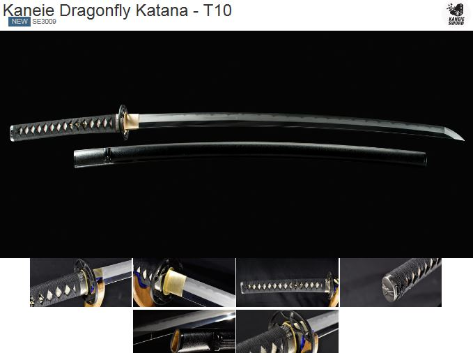 Kaneie Swords SE3009 Dragonfly Katana - T10