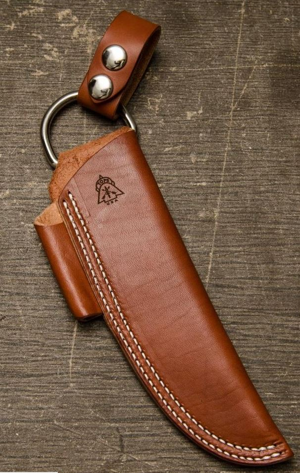 TOPS Bushcraft Leather Sheath & Firestarter - Brown