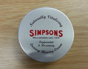 Simpsons Peppermint and Rosemary Luxury Shaving Cream