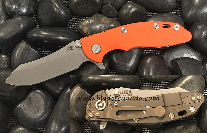 Hinderer XM-18 3.0 Tri-Way Skinner WF - Battle Bronze/ Orange G10