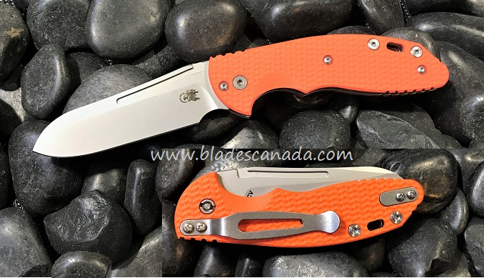Hinderer XM Slippy 3.0 Sheepsfoot SW - Orange G10