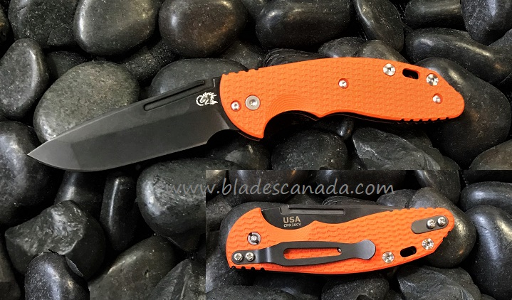 Hinderer XM Slippy 3.0 Spanto Stonewash DLC - Orange G10