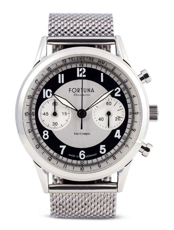 Fortuna Senator Chronograph Cream/Black Dial 42mm - SN72420M