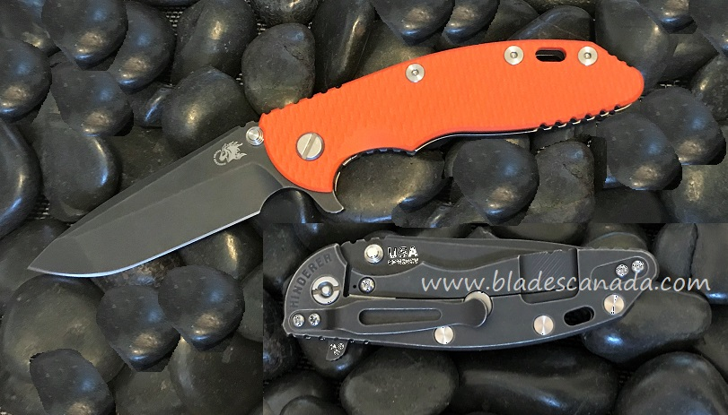 Hinderer XM-18 3.5 Gen 6 Spanto Battle Black -Orange G-10